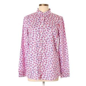 Gap Floral Print Long Sleeve Button-Down Shirt